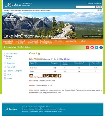 Lake McGregor Campground